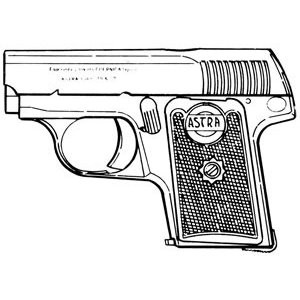 Astra Model 1924 (Hope), .25 ACP, 6 RD Magazine or Grips Image