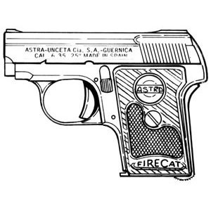 Astra Firecat (200) .25 ACP, 6 RD Magazine or Grips Image