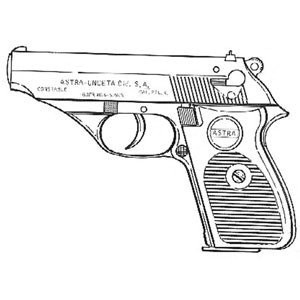 Astra Const. 5000 .22 LR, .32 ACP, .380 ACP Mag. Or Grips Image