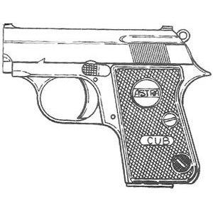 Astra Cub (2000) .25 ACP, 6 RD Magazine or Grips Image