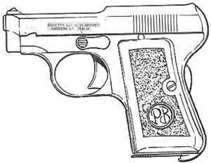 Beretta – 1919, .25 ACP, 7 RD Magazine Or Grips Or Grip Inserts Image