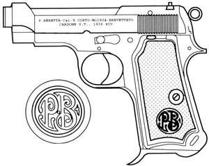 Beretta – 1934, .380 ACP, 7 RD Magazine Or Grips Image