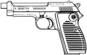 Beretta 1951 Brigadier (Helwan), 9mm Magazine Or Grips Image