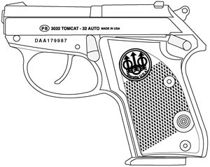 Beretta Tomcat, .32 ACP, 7 RD Magazine Or Grips Image