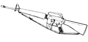 Colt AR-15/ M16, 30 RD Or 10 RD Aluminum Magazine Image