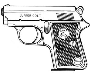 Colt Junior Model, .25 ACP, 7 RD Magazine Or Grips Image