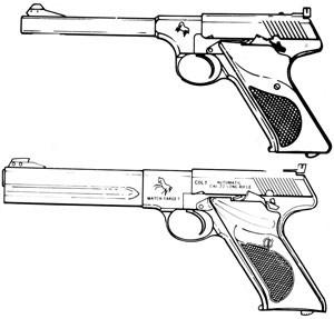 Colt Woodsman(Postwar), Challenger, Huntsman, Targetsman, Match Target .22 LR, 10RD Magazine Or Grips Image