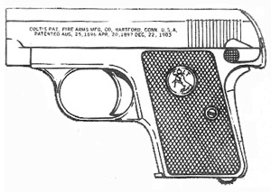 Colt Prewar (N) Vest Pocket, .25acp, 6 Rd Magazine Or Grips Image