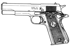 Colt, .38 Super, 8 Or 10 RD Magazine Or Grips Image