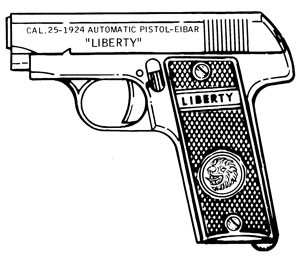 Liberty 1924, .25ACP, 10 RD Magazine Or Grips Image