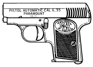 Paramount VP, .25ACP, 6 RD: Image