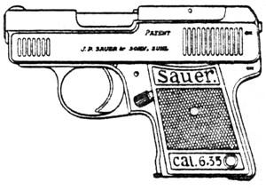 Sauer WTM (1924), .25ACP Magazine Or Grips Image
