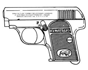 Unique M-10, .25ACP, 6 RD Image