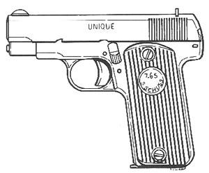 Unique Model 21, .32ACP, 7 RD Magazine or Grips Image