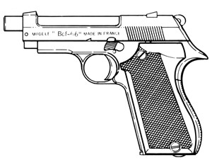 Unique Model BCF66 (Police), .380ACP, 8 RD Magazine or Grips Image