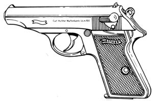 Walther PP-PPK/S, .32ACP, 7 RD Magazine or Grips Image