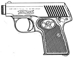 Walther 2 and 5, .25ACP, 6 RD Magazine or Grips Image