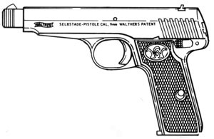Walther 6, 9mm Magazine or Grips Image