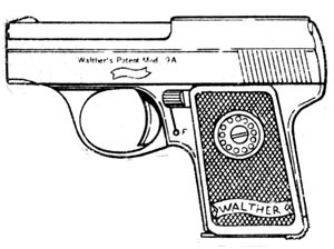 Walther Model 8, .25ACP, 7 RD Magazine or Grips Image