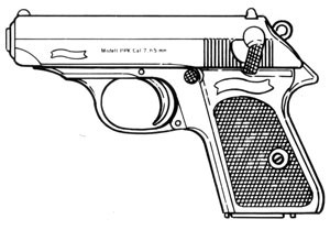 Walther PPK, .380ACP, 6 RD Magazine or Grips Image