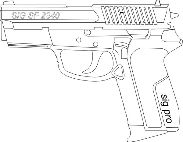 Sig Sauer Pro Sp 2340, .357/.40, 12 RD, Fact. Mag Image