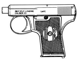 Harrington & Richardson, Vest Pocket,.25ACP, 6 RD Magazine Or Grips Image